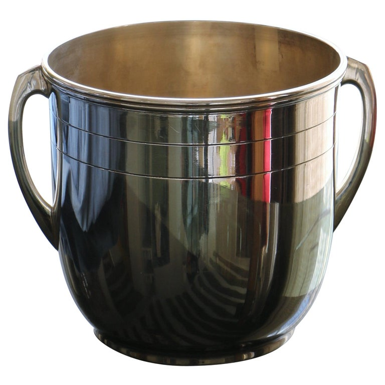 Silver Metal Champagne Bucket For Sale
