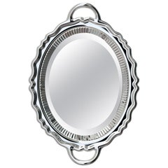 Silver Metal Finish Plateau Mirror, Designed by Studio Job, Made in Italy