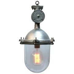 Silver Metal Vintage Industrial Clear Glass Pendant Lights