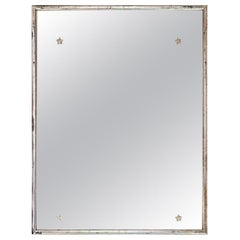 Silver Mirror with Star Decoration and Original Glass