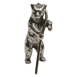 Silver Model of a Bear, Dated 1908, Chester Import, Berthold Muller