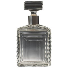 Silver Mounted Cut-Glass Spirit Decanter, circa 1930