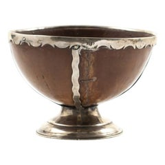 Silver Mounted Ostrich Egg Goblet, England 1860-1900