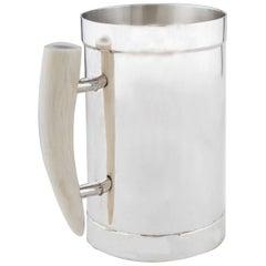 Silver Mug with Deer Antler Handle