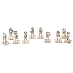 Silver Musician Mariachi Band Figural Place Cardholders Place Cards Set of 10