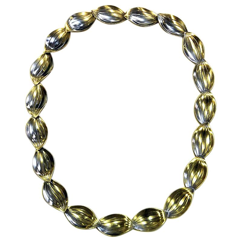 Silver vintage necklace by Heribert Engelbert AB, Sweden 1957