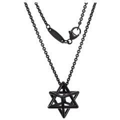 Silver Necklace Merkaba Star Unisex