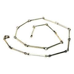 Silver Necklace with Linked Bars by David Andersen, Norway, 1960s