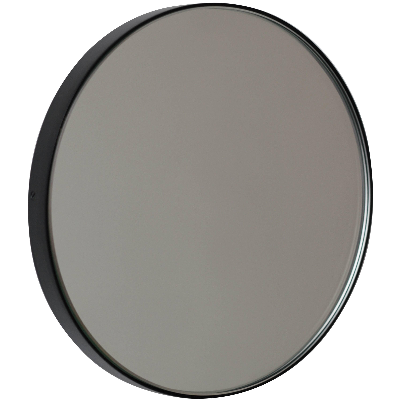 Orbis™ Round Minimalist Mirror with Black Frame - Small