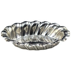 Silver Oval Centerpiece, Italy, Mid-20th Century