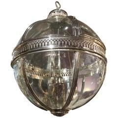 Silver Over Bronze Spherical Lantern