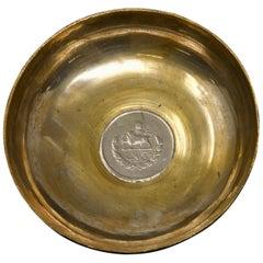 Silver over Copper Coin Dish