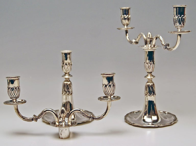 High Victorian Silver Pair of Candlesticks, possibly Spain, made circa 1880  For Sale