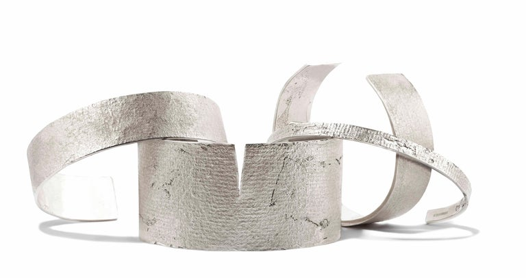 Silver Paper Cuff by Allison Bryan For Sale 1