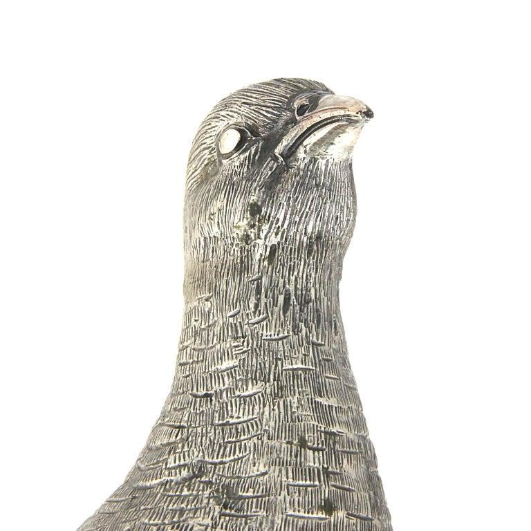 Silver Partridge  Sculpture