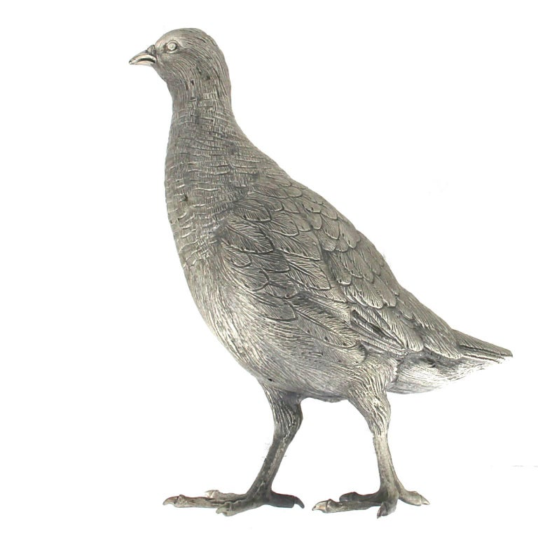 Silver Partridge Sculpture In New Condition For Sale In Milan, IT