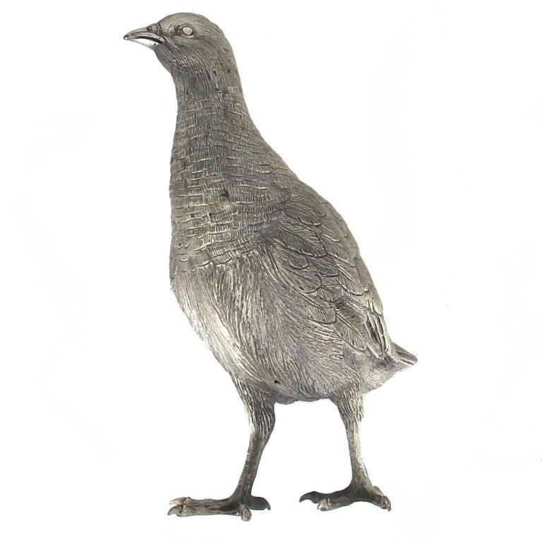 Silver Partridge handicraft