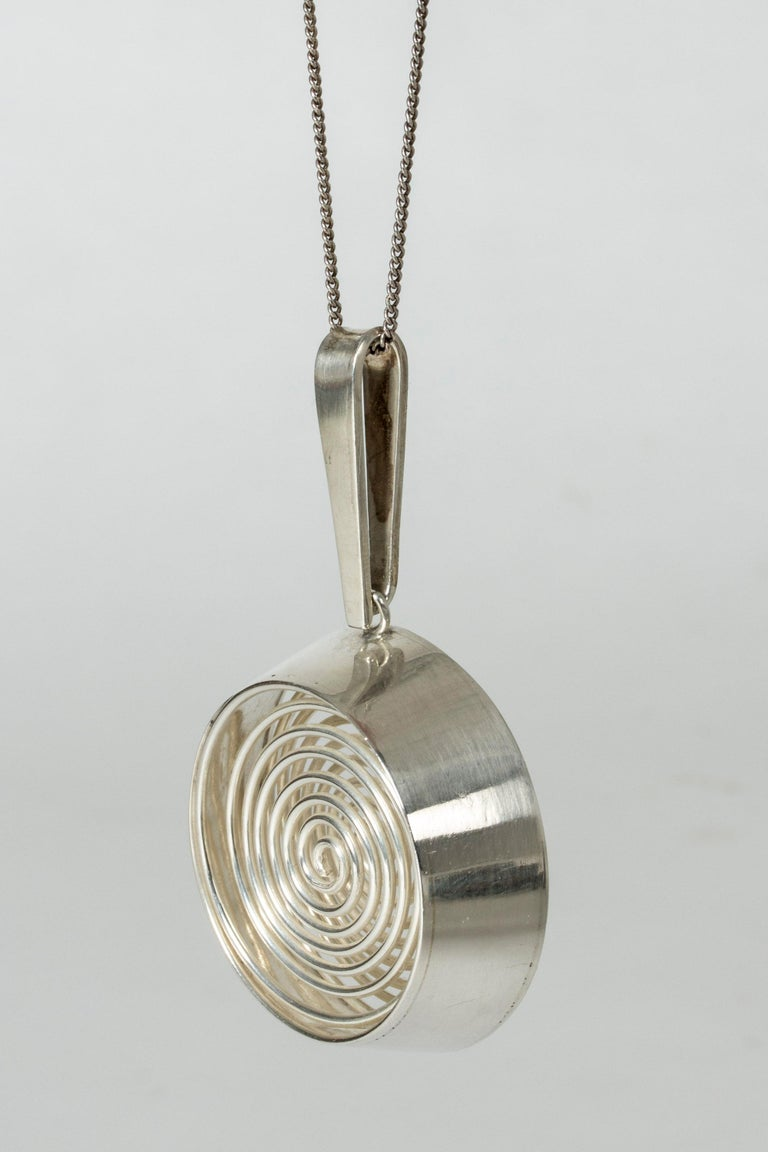 Women's or Men's Silver Pendant from Kaplans, 1967 For Sale