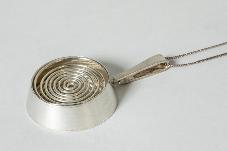 Silver Pendant from Kaplans, 1967 For Sale 2