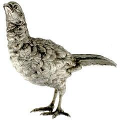 Silver Pheasant Sculpture