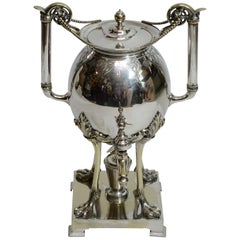 Silver Plate Aesthetic Movement Hot Water Urn Samovar, American 19th Century