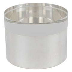 Silver Plate and Lucite Round Box by Debladis, Paris