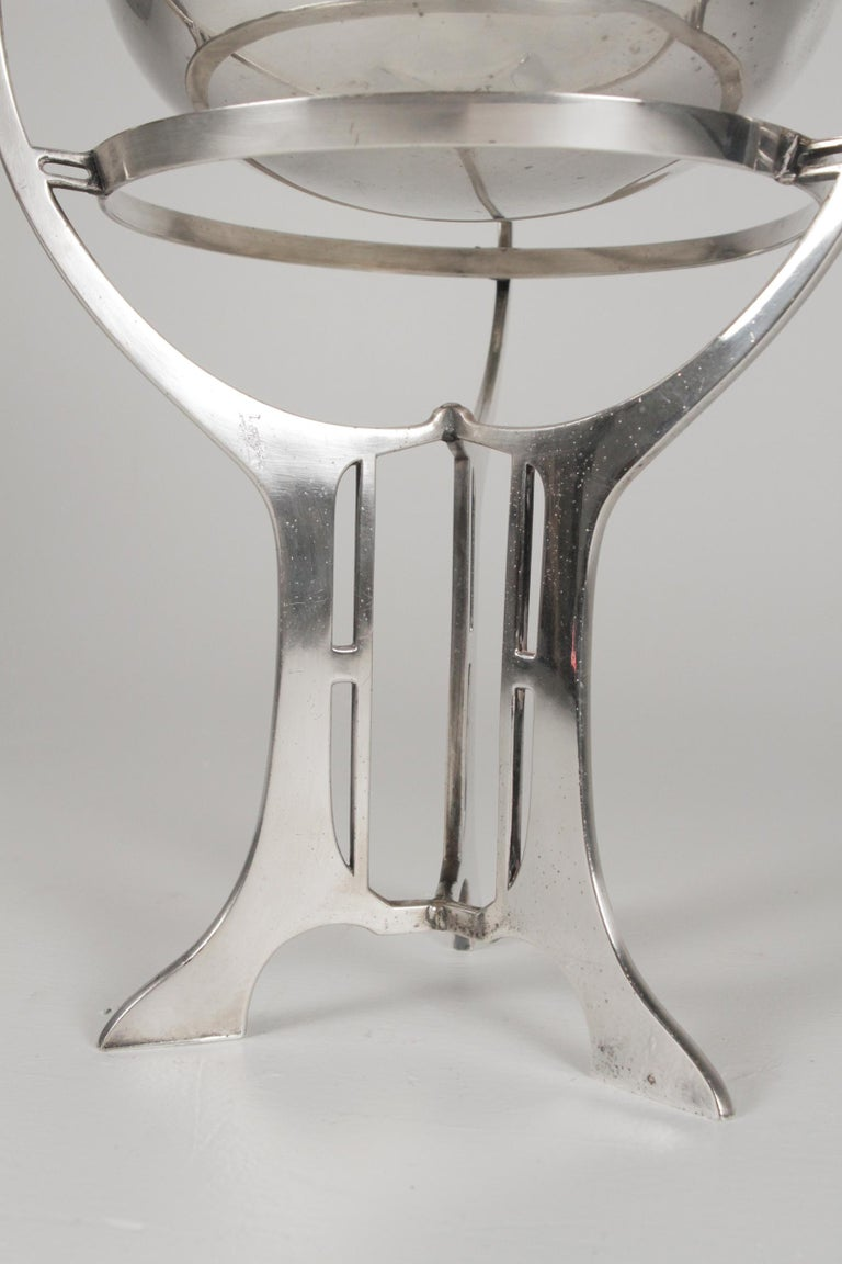 Silver-Plate Art Nouveau Bowl on Stand, Germany, Early 20th Century For Sale 2
