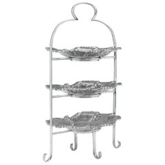 Silver Plate Cake Stand