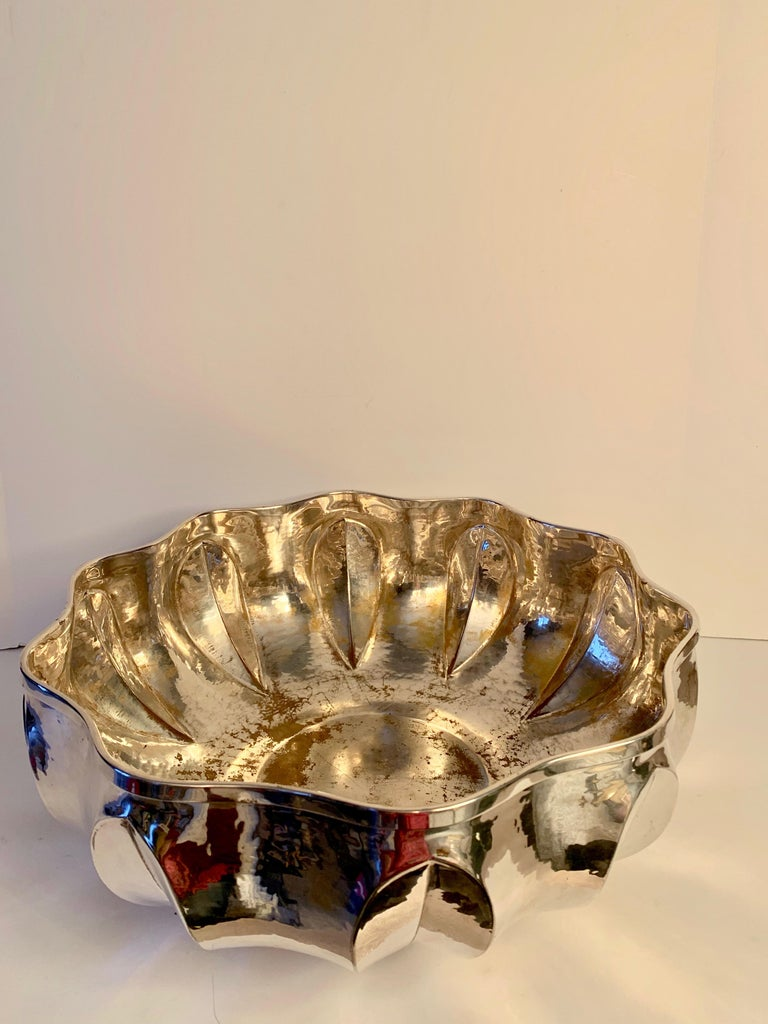 20th Century Silver Plate Center Piece Bowl For Sale