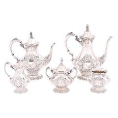 Silver Plate Five Piece Tea / Coffee Service