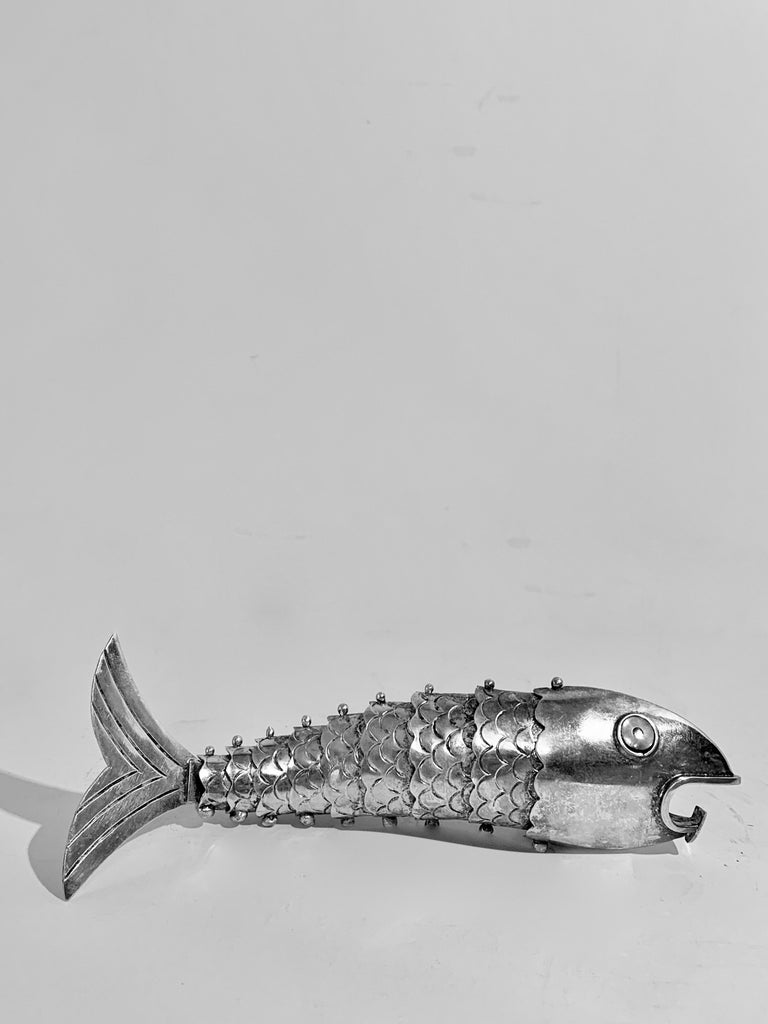 Silver Plate Mexican Articulated Fish Bottle Opener For Sale 5