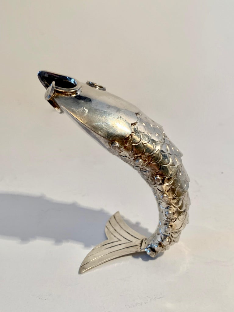 Silver Plate Mexican Articulated Fish Bottle Opener For Sale 4
