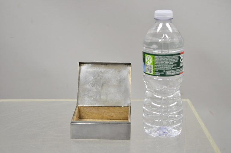 Silver Plate Schaaff Heidelberg Germany Art Deco Trinket Jewelry Cigarette Box 6