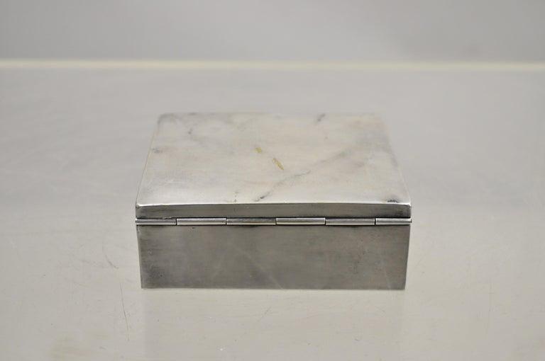 20th Century Silver Plate Schaaff Heidelberg Germany Art Deco Trinket Jewelry Cigarette Box