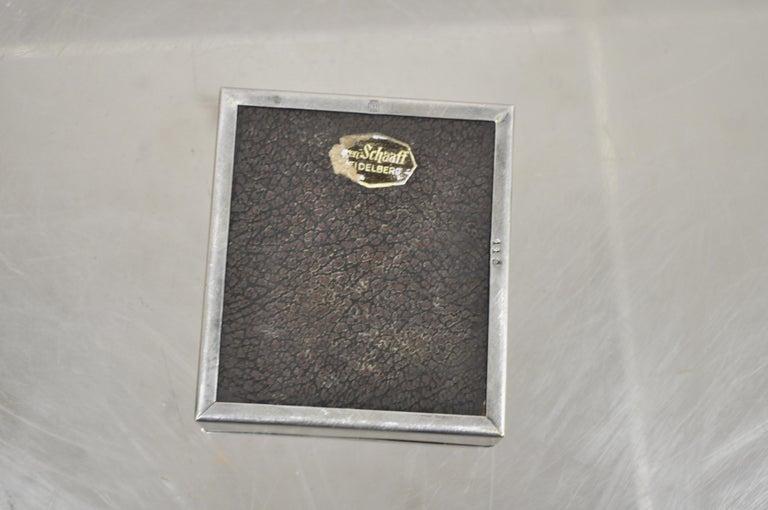 Silver Plate Schaaff Heidelberg Germany Art Deco Trinket Jewelry Cigarette Box 2