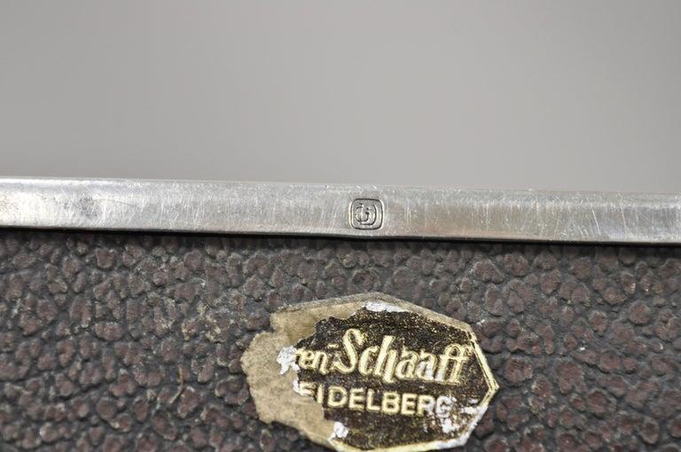 Silver Plate Schaaff Heidelberg Germany Art Deco Trinket Jewelry Cigarette Box 3