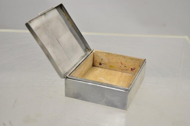 Silver Plate Schaaff Heidelberg Germany Art Deco Trinket Jewelry Cigarette Box 5