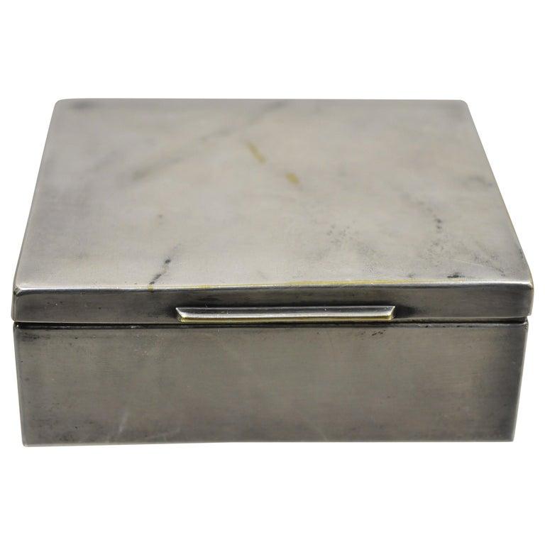 Silver Plate Schaaff Heidelberg Germany Art Deco Trinket Jewelry Cigarette Box