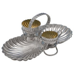Aesthetic Movement Silver Plated Strawberry Dish by Hukin & Heath Circa 1880