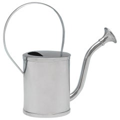 Mid Century Modern Silver Plated Watering Can By Asprey & Company