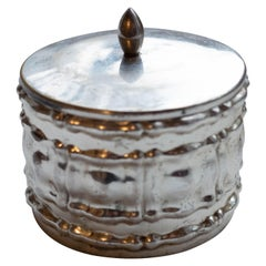 Silver Plated Art Nouveau Hungarian Candy Jar