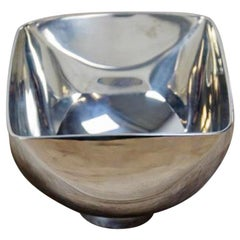 Silver Plated Bowl by Ward Bennett Design, 1960s