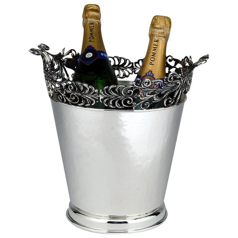 Silver-Plated Champagne Bucket For Sale