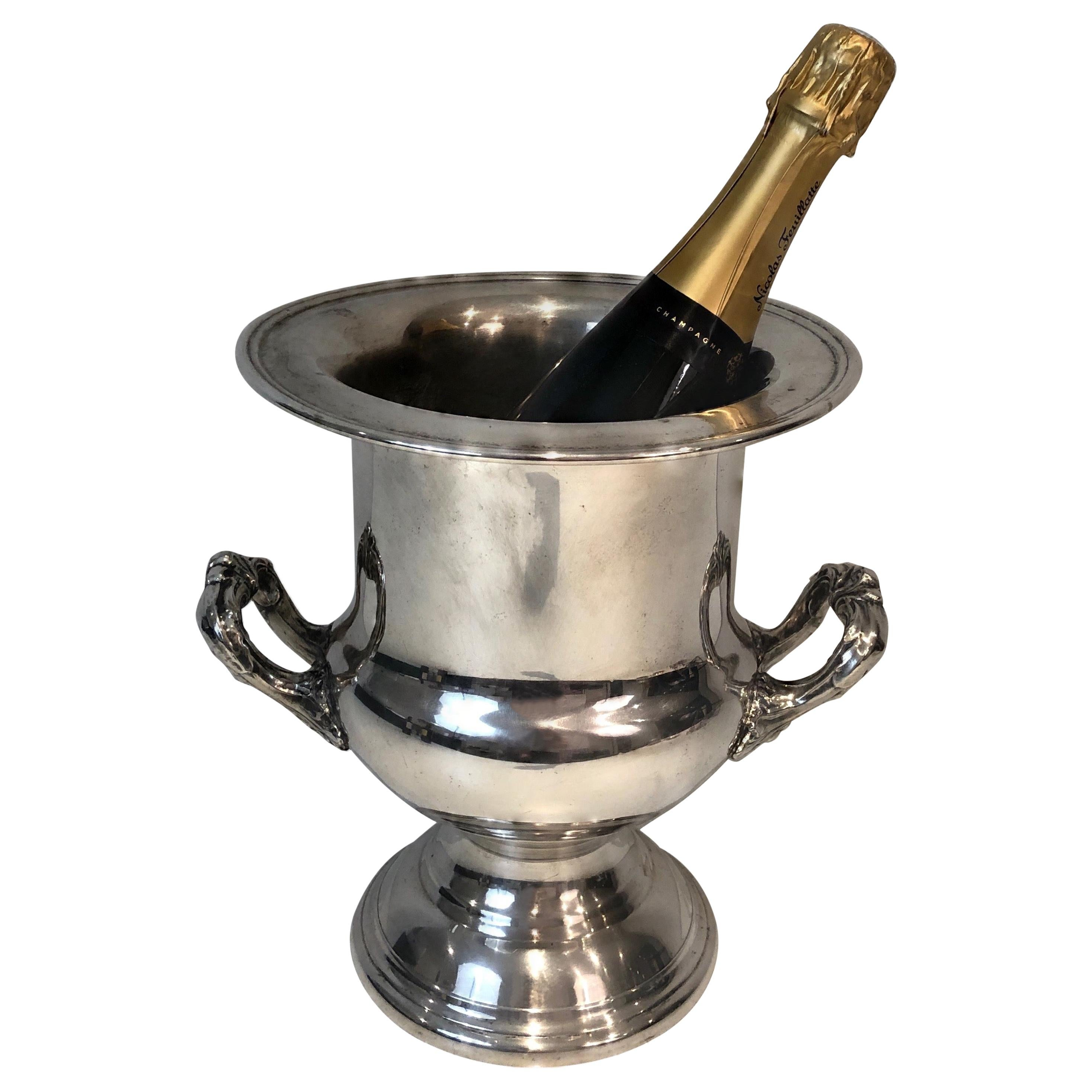 Silver Plated Champagne Bucket, French, Circa 1900