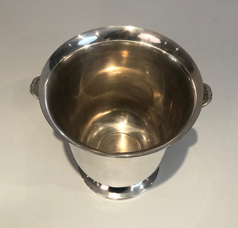 Silver Plated Champagne Bucket, French, Circa 1930 For Sale 5