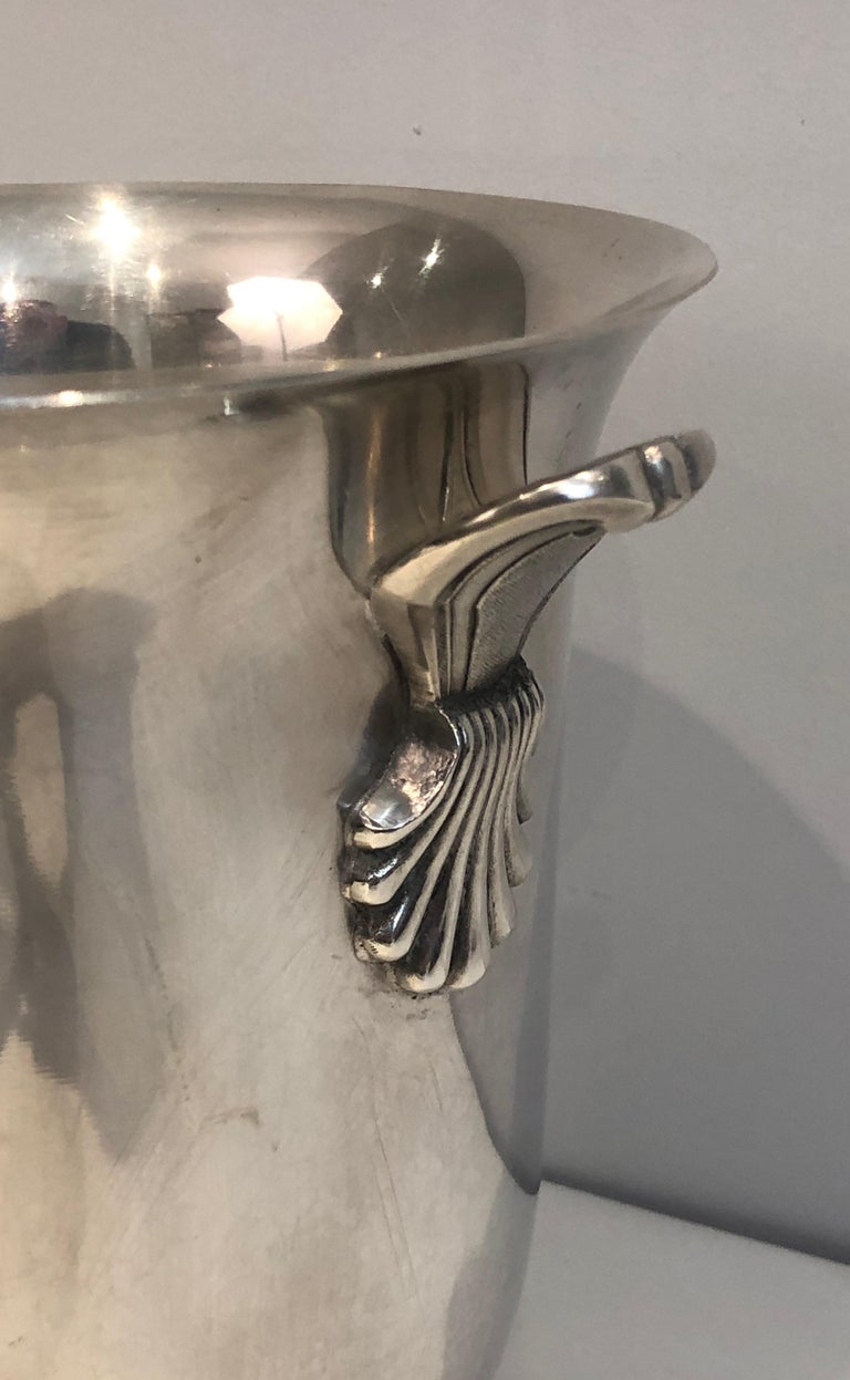 Silver Plated Champagne Bucket, French, Circa 1930 For Sale 6