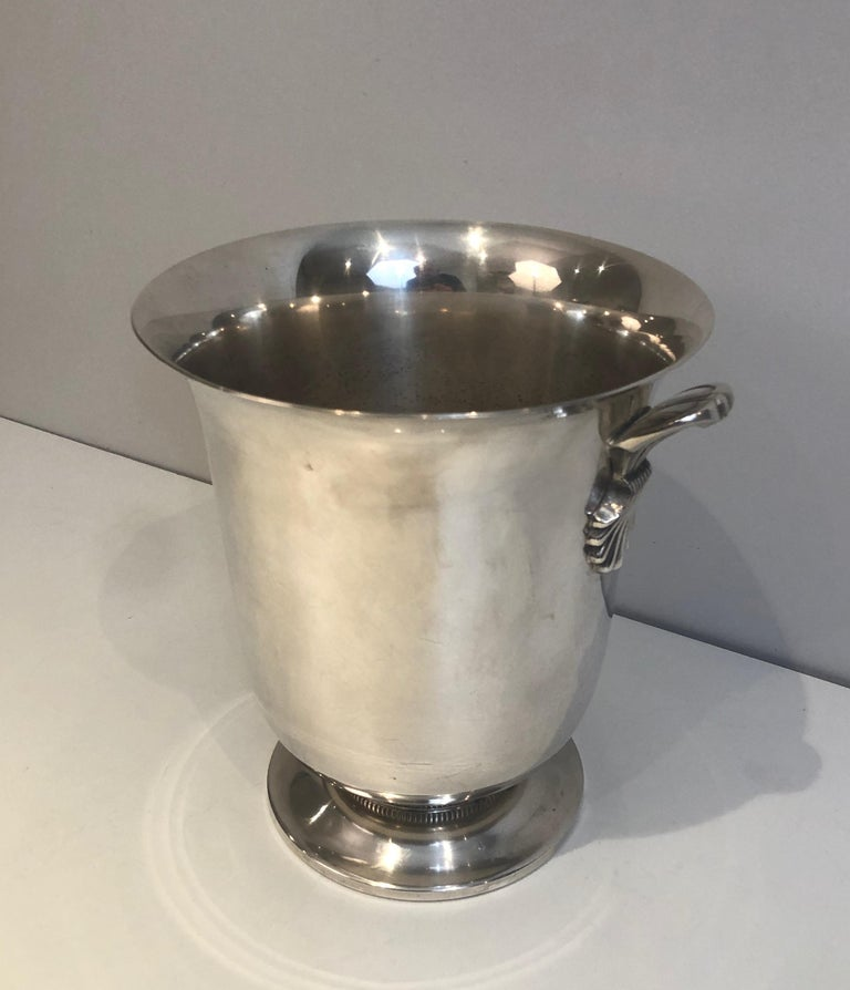 Silver Plated Champagne Bucket, French, Circa 1930 For Sale 10