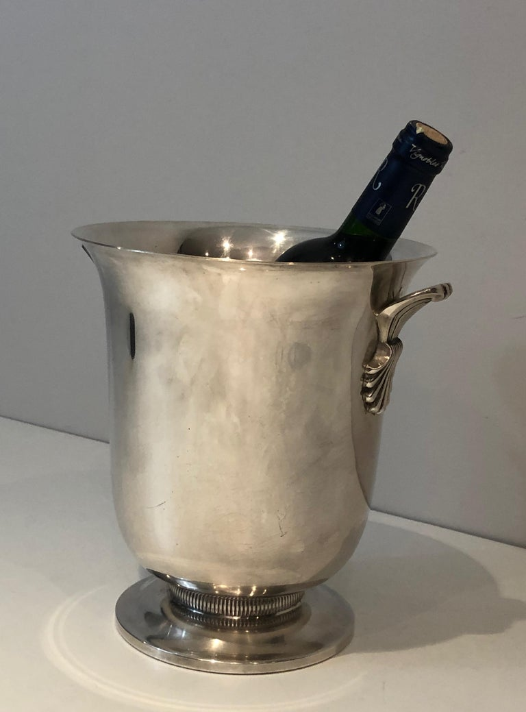 Silver Plated Champagne Bucket, French, Circa 1930 For Sale 11