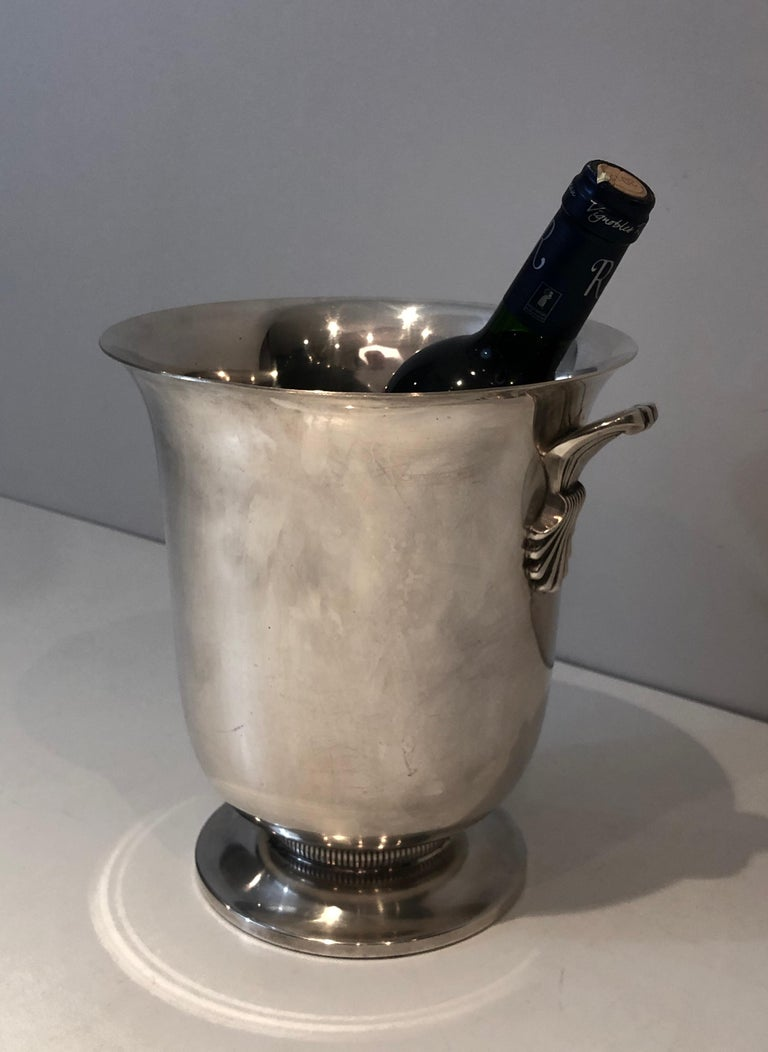 Art Deco Silver Plated Champagne Bucket, French, Circa 1930 For Sale