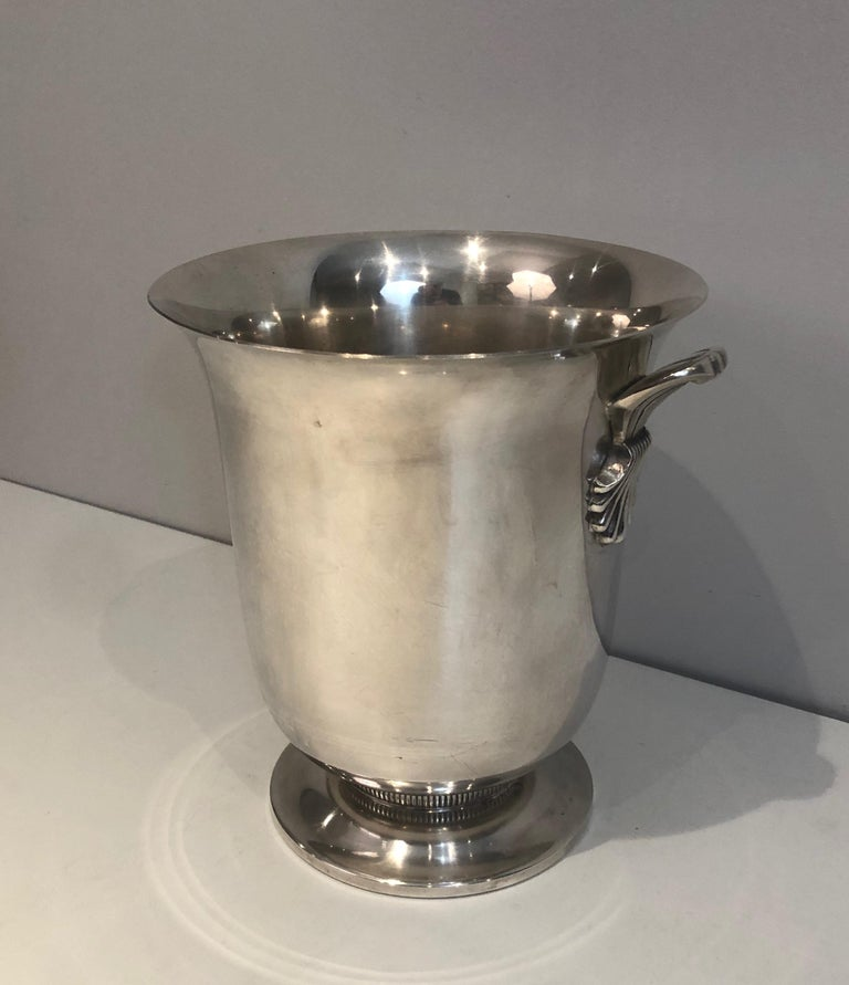 Silver Plated Champagne Bucket, French, Circa 1930 In Good Condition For Sale In Marcq-en-Baroeul, FR